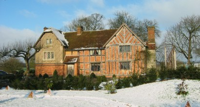 Moated manor farmhouse